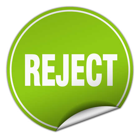 reject: reject round green sticker isolated on white Illustration