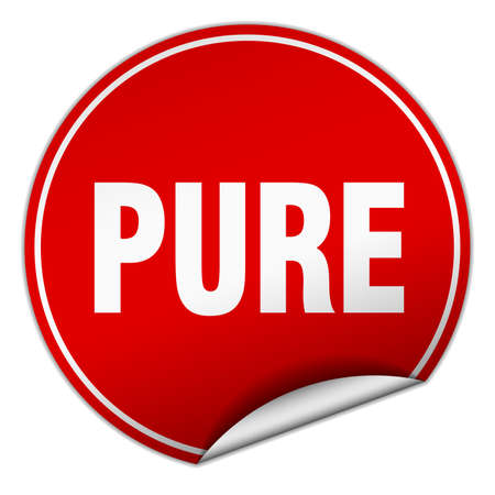 pure: pure round red sticker isolated on white