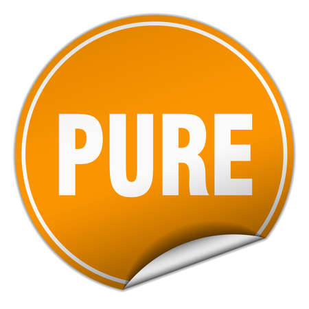 pure: pure round orange sticker isolated on white