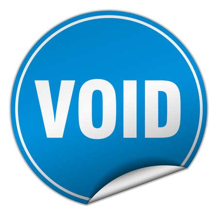 void: void round blue sticker isolated on white