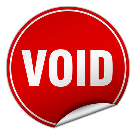 the void: void round red sticker isolated on white Illustration