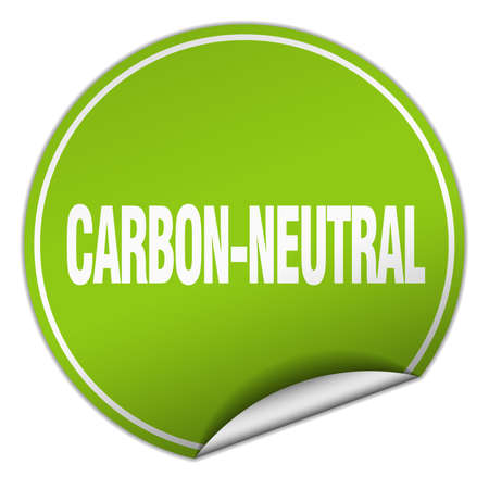 carbon neutral: carbon-neutral round green sticker isolated on white