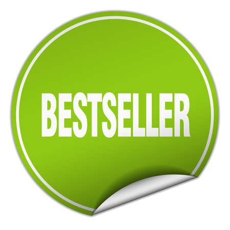 bestseller: bestseller round green sticker isolated on white