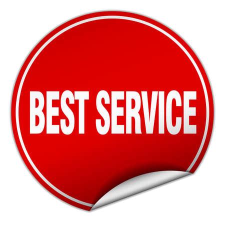 best service: best service round red sticker isolated on white