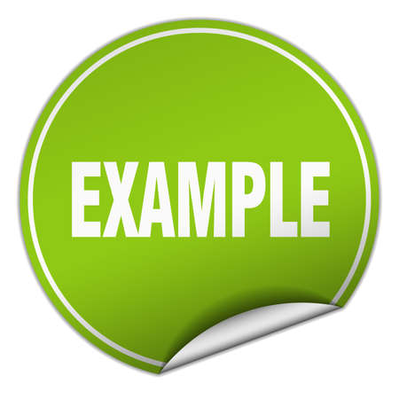 example round green sticker isolated on white