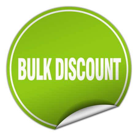 bulk: bulk discount round green sticker isolated on white