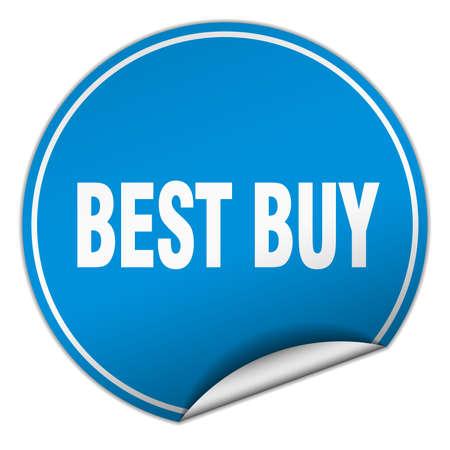 best buy: best buy round blue sticker isolated on white Illustration