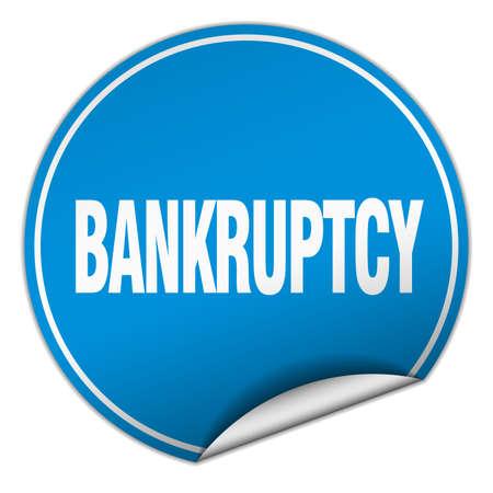 bankruptcy: bankruptcy round blue sticker isolated on white Illustration