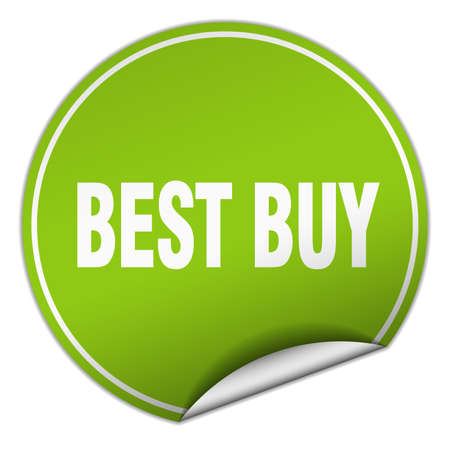 best buy: best buy round green sticker isolated on white