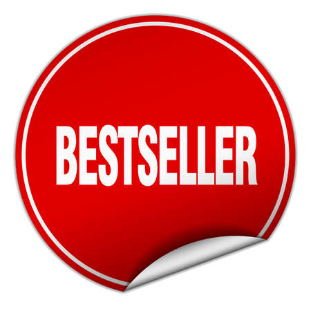 bestseller: bestseller round red sticker isolated on white