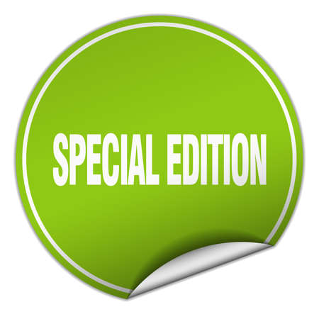 special edition: special edition round green sticker isolated on white