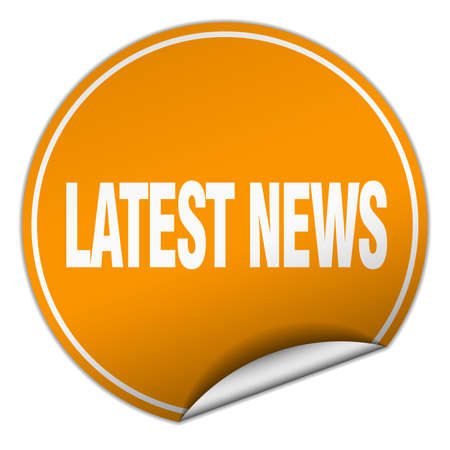 latest news: latest news round orange sticker isolated on white Illustration