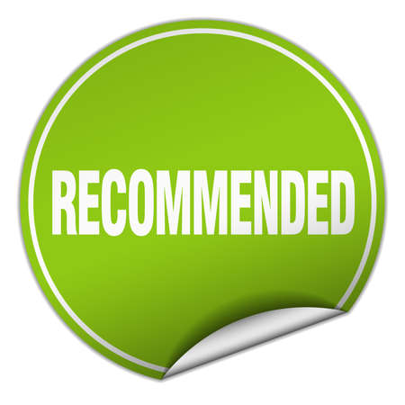 recommended: recommended round green sticker isolated on white
