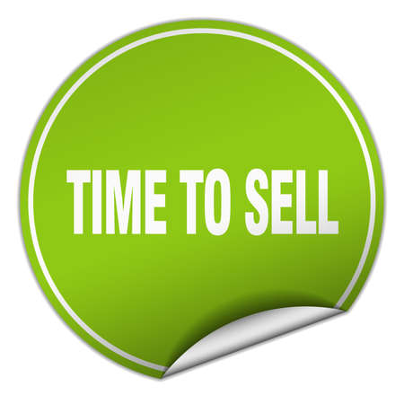 to sell: time to sell round green sticker isolated on white Illustration
