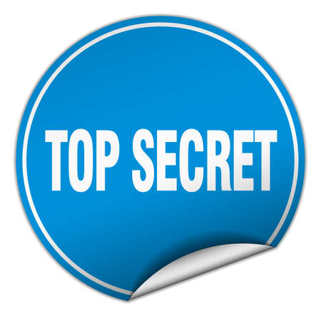 top secret: top secret round blue sticker isolated on white Illustration