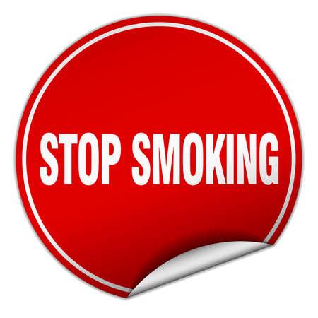 stop smoking: stop smoking round red sticker isolated on white Illustration