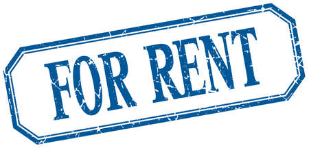 for rent: for rent square blue grunge vintage isolated label