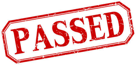 passed: passed square red grunge vintage isolated label