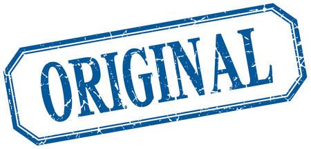original: original square blue grunge vintage isolated label Illustration