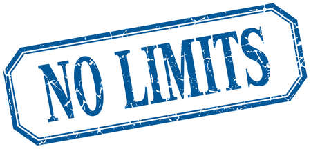 no limits: no limits square blue grunge vintage isolated label