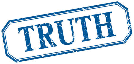 truth: truth square blue grunge vintage isolated label