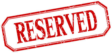 reserved: reserved square red grunge vintage isolated label