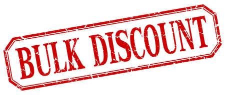 bulk: bulk discount square red grunge vintage isolated label Illustration