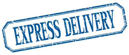 express delivery: express delivery square blue grunge vintage isolated label Illustration