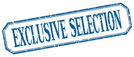 selection: exclusive selection square blue grunge vintage isolated label