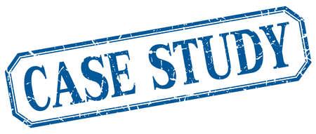case study: case study square blue grunge vintage isolated label