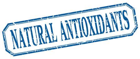 antioxidants: natural antioxidants square blue grunge vintage isolated label Illustration