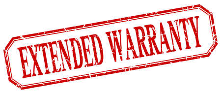 estendido: extended warranty square red grunge vintage isolated label Ilustração