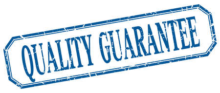 quality guarantee: quality guarantee square blue grunge vintage isolated label