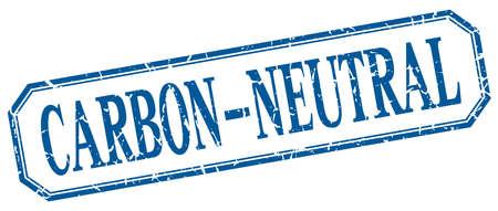 co2 neutral: carbon-neutral square blue grunge vintage isolated label Illustration