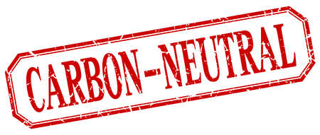 co2 neutral: carbon-neutral square red grunge vintage isolated label