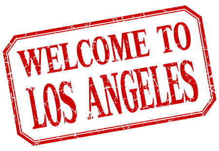 angeles: Los Angeles - welcome red vintage isolated label Illustration