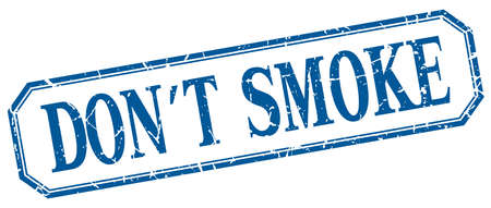 dont: dont smoke square blue grunge vintage isolated label