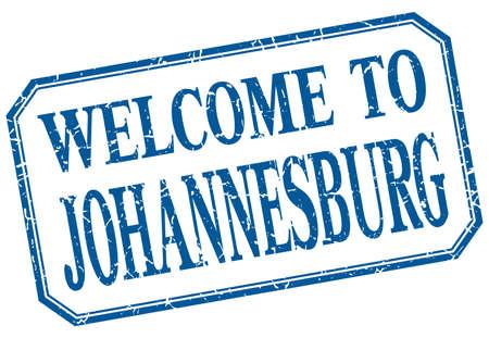 johannesburg: Johannesburg - welcome blue vintage isolated label Illustration