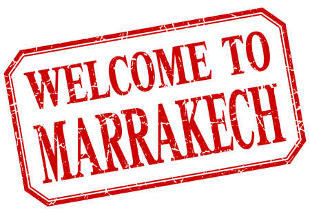 marrakech: Marrakech - welcome red vintage isolated label Illustration