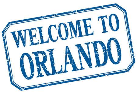 orlando: Orlando - welcome blue vintage isolated label