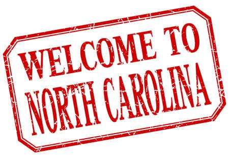 north carolina: North Carolina - welcome red vintage isolated label Illustration