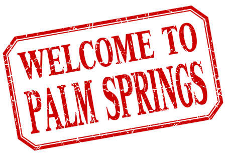 springs: Palm Springs - welcome red vintage isolated label Illustration