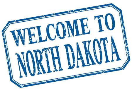 dakota: North Dakota - welcome blue vintage isolated label Illustration