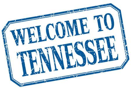 tennessee: Tennessee - aislado etiqueta de la recepción de la vendimia azul