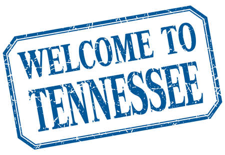 tennessee: Tennessee - welcome blue vintage isolated label