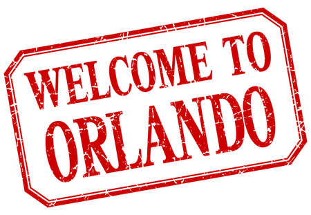orlando: Orlando - welcome red vintage isolated label