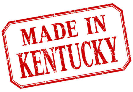 kentucky: Kentucky - made in red vintage isolated label Illustration