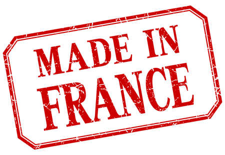 made in: France - made in red vintage isolated label Illustration