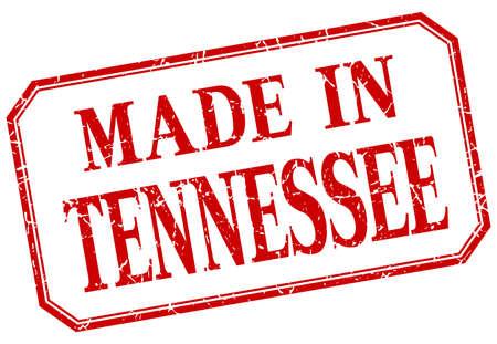 tennesse: Tennessee - hecha en la etiqueta roja aislada de la vendimia