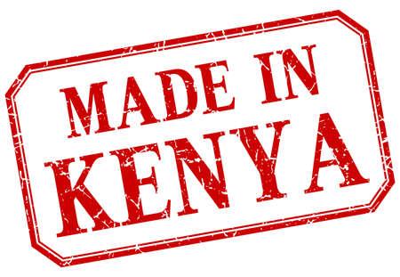 kenya: Kenya - made in red vintage isolated label